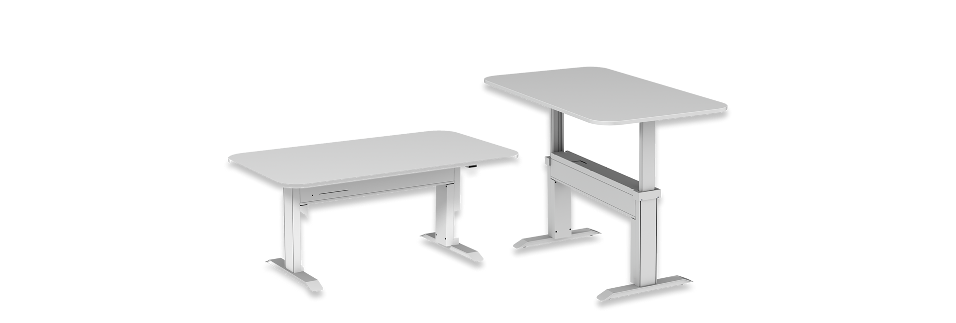 Mesa Com Regulagem de Altura | Branca